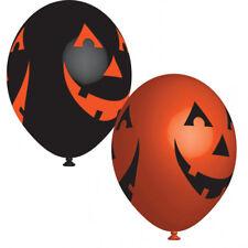 6 Halloween Negro & Naranja Calabaza Globos Decoración Fiesta
