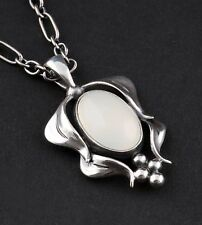 GEORG JENSEN Sterling Pendant Of The Year 2015, White Agate. LIMITED EDITION.