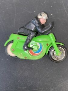 MOTORCYCLE TOY 1970 HARLEY DAVIDSON SPIN OUT CRAGSTAN GREEN
