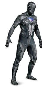 Mens Gray Power Rangers Halloween Costume XL-2X Adult Cosplay