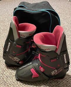 Salomon Ski Boots Women's Size 343 mm 93 Exp Black Pink