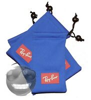 NEW RAY-BAN EYEGLASSES SUNGLASSES OPTICAL POUCH BLUE CASE ONLY