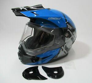 LARGE- Castle X- Process Blue/Black EXO-CX950 Hex Snow Helmet - 45-19626