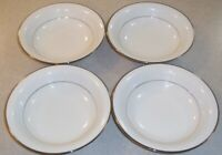 SET OF  4  NORITAKE  Ivory China  SORRENTO  7565   SOUP / SALAD BOWLS 7 1/2 inch