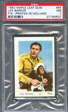 1952 Maple Leaf Gum Card Holland #85 LEX BARKER Tarzan WORLD WAR II Army PSA 7