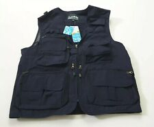 Magcomsen Men's Fishing Vest with 15 Pockets Quick Dry Outdoor Navy Size Xl
