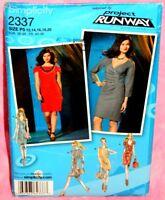 Uncut Simplicity Project Runway Sz 12-20 Dress w/Front Variations Pattern 2337
