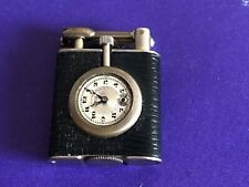 Antique  Pocket Watch Cigarette Lighter, Leather Wrap