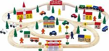 Extra large wooden train set 100 pieces 1001    Brio compatable.