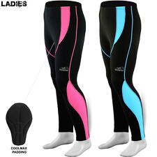 Ladies Women Cycling Tights Cycle Legging Trouser Thermel Long Padded Pant Pink