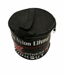 "Weightlifting Belt Training Gym 4"" Pro Nylon Bodybuilding Workout sz XL Black"