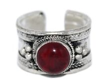 Red Quartz ring healing ring yoga ring Adjustable ring Tibetan ring medicine