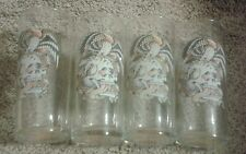 Lot of 4 Ed Hardy collectible drinking glasses