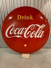 Classic 4 ft Coca-Cola button sign