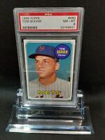 1969 Topps #480 Tom Seaver - HOF - Mets - PSA 8 - NM-MT - 22749931 - (SCA)