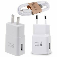 OEM For Samsung Galaxy Note 4/5/S6/S7/Edge Adapter Charging + USB Cable US EU