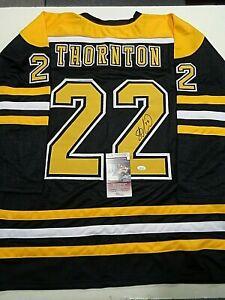 Shawn Thornton Boston Bruins Autographed Signed Black Style Jersey XL coa-JSA+