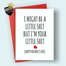 M8 Mothers Day Greetings Card Mum Rude Funny Cheeky Love Mother's