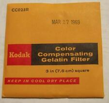 Kodak Color COMPENSADOR GELATINA Filtro N º cc025r 7.6cm OR 7.6cm Cuadrado