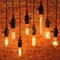 1.2m Industrial Drop Hanging Light Holder Pendant Lamp Wire Cord Bulb Socket