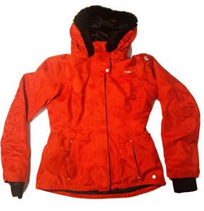 Womens Killy Red Jacket Ski Designed France Fur Lined Hood Size 8 U.S. Quality