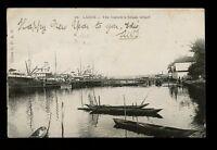 British Cwlth Africa Southern Nigeria LAGOS The Customs House Wharf 1908 u/b PPC