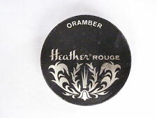 "Sweet Art Deco Era ""Heather Rouge"" in Small Tin Black & Silver *"