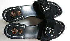$198 New Donald J Pliner Vera Suede Black 11M Women Slide Beautiful Wedge Sandal