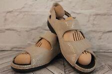 RIEKER Comfy Cream Snake Skin Open Peep Toe Low Block Heel Sandals RRP £59 EU 40