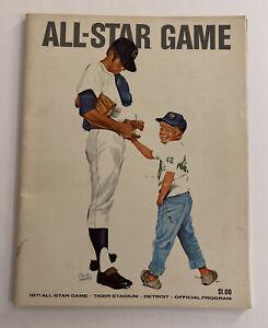 Vintage 1971 all star game program Tiger stadium Detroit Tigers