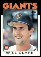 1986 Topps Traded Will Clark Rookie San Francisco Giants #24T