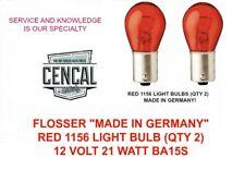 FLOSSER RED 1156 LIGHT BULB (QTY 2)  12 VOLT 21 WATT BA15S RED 667109