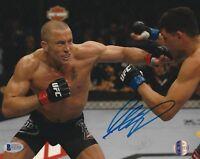 Georges St-Pierre GSP Signed UFC 8x10 Photo BAS Beckett COA Picture Autograph 1