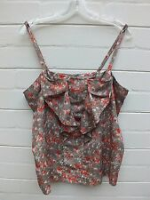 Hi THERE KAREN WALKER TANK CAMI BLOUSE TOP TUNIC SHIRT 14 LARGE