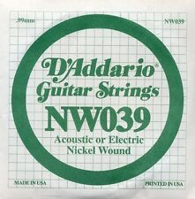 D'Addario NW039 Pack of 5 Guitar Strings. Nickel Wound .039 Gauge