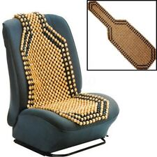 Brown Wooden Bead Beaded Massage Front Seat Cushion Cover Car Van Taxi Office AU