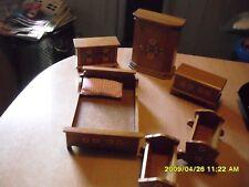 Puppenschlafzimmer für Puppenhaus oder Zimmer 1 :12 Bauernmalerei