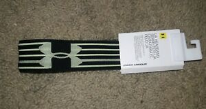Women's Under Armour Headband Black New NWT Anti Slip Green Work Out Sports