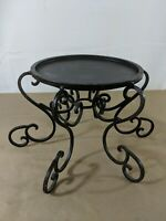 A5 Large Candle Holder Metal Brown Filigree Swirl Design Centerpiece