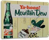 Mountain Dew Soda Pop Store Advertising Vintage Retro Wall Decor Metal Tin Sign