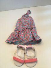 American Girl Doll Flamingo Beach Dress & Sandals