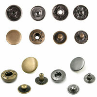 200 Metal Poppers Snap Fastener Press Stud Sewing Leather Craft Clothes Bag 10mm