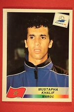 PANINI WC WM FRANCE 98 1998 N. 58 MAROC KHALIF WITH BLACK BACK MINT!!