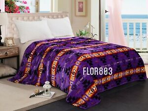 Southwest Design (Navajo Print) Silk Touch Blanket Queen Size