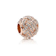 Pandora Rose 781537CZ Charm Funkelnder Liebesknoten °Neu°