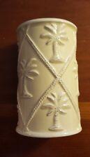 "Tommy Bahama Sandy Palms Tumbler Toothbrush Tan Porcelain Palm Trees 4.5 x 2"""