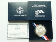 2009-P Louis Braille Dollar Uncirculated Box & COA
