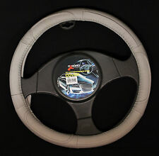 Oxgord Genuine Leather Steering Wheel Cover in Gray SWGL 24 GY