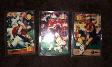 10min 1995 Snoopy Bowl Football / Steve Young. Set Of 3 PROMOS Phone Cards Mint