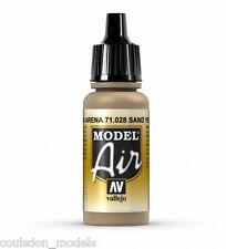 Vallejo Model Air 71.028 Sand Yellow - 17ml Acrylic Airbrush Ready Paint